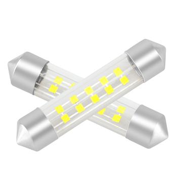 new high brightness car led reading light 10smd 1515 flip lamp beads + glass substrate led car festoon light
