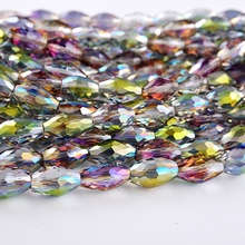 Wholesale Top Quality Crystal AB Color Glass Beads For Bracelet Accessories