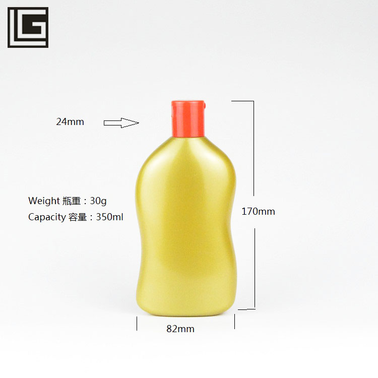 Manufacturers 350ml cosmetic package pet plastic bottle