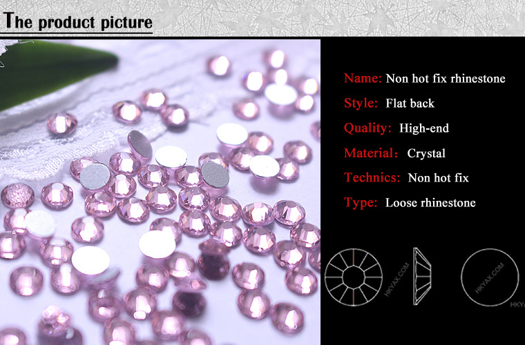 Y0917 amethyst color ss20 5mm 100 gross Round Non Hotfix Stone,Non Hotfix rhinestone, Non Hotfix Stone rhinestuds nailhead