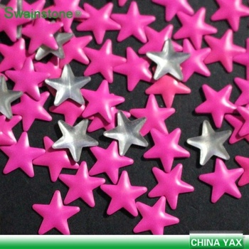 Y0904  on line!5mm  8mm china factory  star shape nailhead hotfix,transfer nail for shoes,nail head transfer