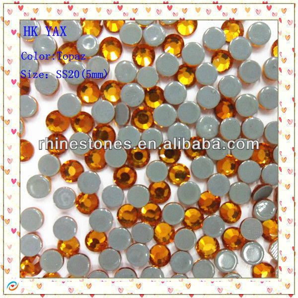 S0809 2mm 3mm 4mm 5mm 6mm topaz fashion loose crystal stone for dresses