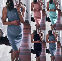 2019 explosion models sexy maternity dress round neck pencil dress women's clothing LYQ3280