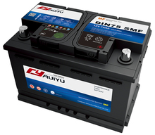 DIN72 12V72AH on automobiles for car truck boat car battery
