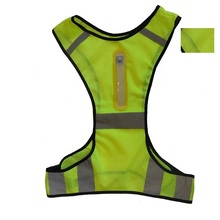 New Design LED Lights Reflective <strong>Safety</strong> Vest Making Running <strong>Safety</strong>