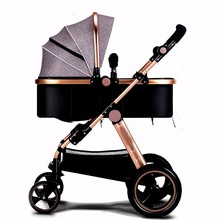 EN1888 certificate Aluminium Alloy Frame big wheel baby stroller luxury3 in 1 with baby carrier car seat for 0-36 month baby