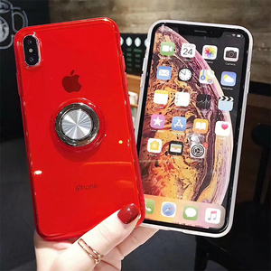 2019 New silicone tpu magnetic mobile phone case for iphone6 360 ring holder cover for iphone7