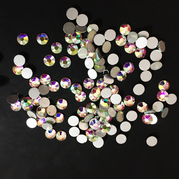 0912N High Quality 16ss Clear AB Flat Back AB Rhinestones 4mm Non Hot Fix Austrian Stones