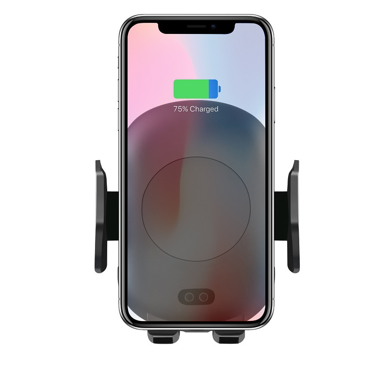<strong>C10</strong> Qi Wireless Charger Infrared Motion Sensor Car Air Vent Phone Mount Holder