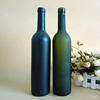 Luxury tall empty 750ml green blue frosted glass wine bottle