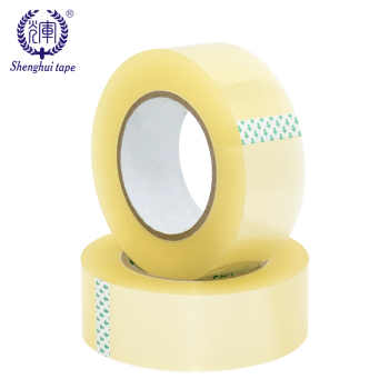 Custom Made Acrylic Adhesive Carton Sealing Strapping Personalized Big Roll Bopp Clear Buff Tape