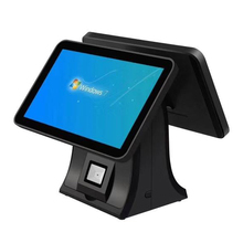 New design retail touch screen 15inch pos <strong>system</strong> dual screen restaurant ordering machine support wifi with RAM4GB,SSD64GB