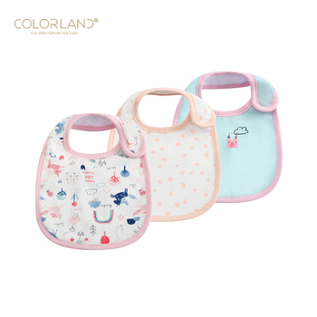 Newborn 100% Cotton Baby Cute Animal Pattern Adjustable Bibs