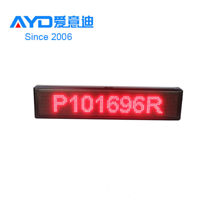 Hidly Hot Sale <strong>LED</strong> <strong>P10</strong> 16*96 Dots Red Indoor Scrolling Message Business <strong>Advertising</strong> <strong>Display</strong> for Clothing Shop &amp; Supermarket