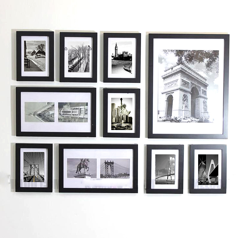 Custom Simple Design Wall Mount Photo Picture Frame Set - Modern <strong>10</strong>
