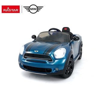 Rastar kids toys made in china plastic electric driving ride on car