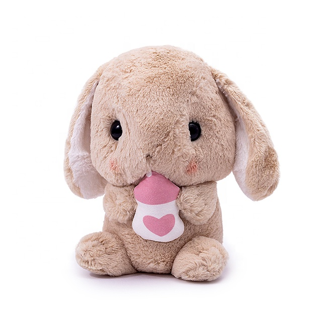 cute long eared bunny <strong>rabbit</strong> plush toy <strong>rabbit</strong> doll for child with bottle