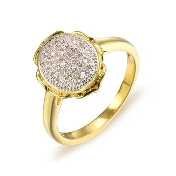 OB Jewelry-Custom Cubic Zirconia Women Rings 18K Gold Plated Rings For Ebay Amazon