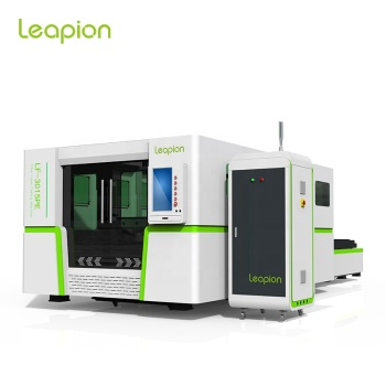 Leapion full enclosed protection cover fiber laser cutting machine 3KW 4KW Raycus fiber source