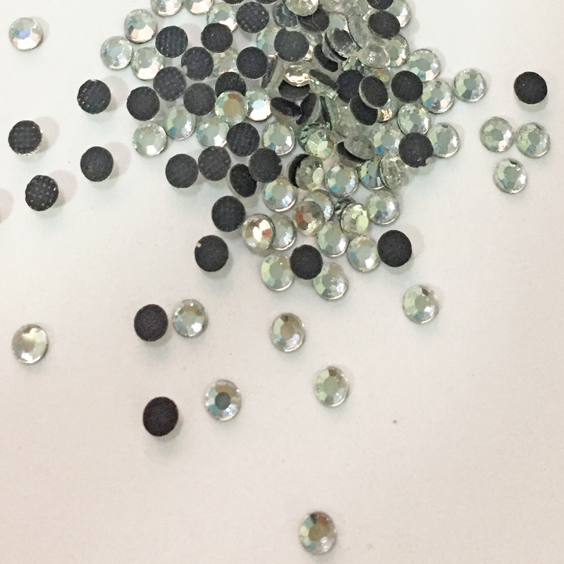 0725W Bulk Price Clear Crystal Color 34SS 7mm Hot Fix Flatback Glass Rhinestones for Clothes