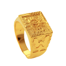 xuping fine jewellery dubai 24K gold plating copper alloy big <strong>ring</strong>, <strong>ring</strong> for man