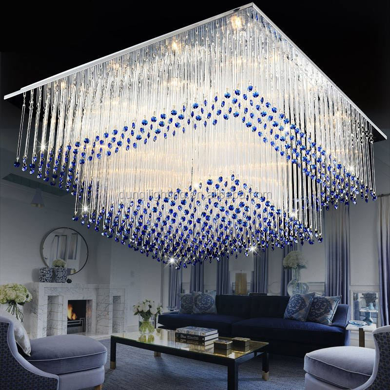 2017 New arrival low ceiling crystal chandelier for hotel project club villa