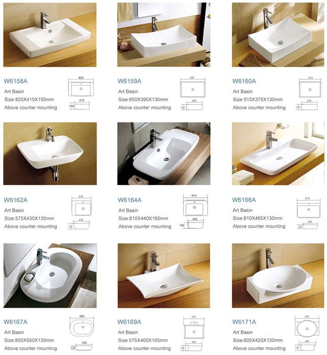 Alibaba China Boat Shape Ceramic Hand Wash Basin Size