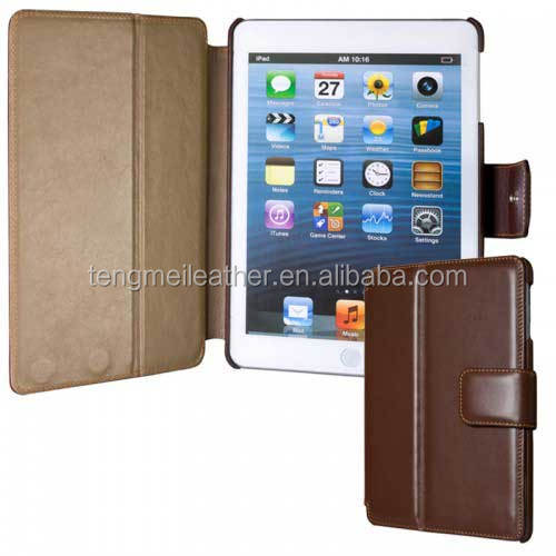 Deluxe Shockproof And Waterproff Cowhide Leather Case For Apple Ipad 6,For Ipad 6 Leather Case