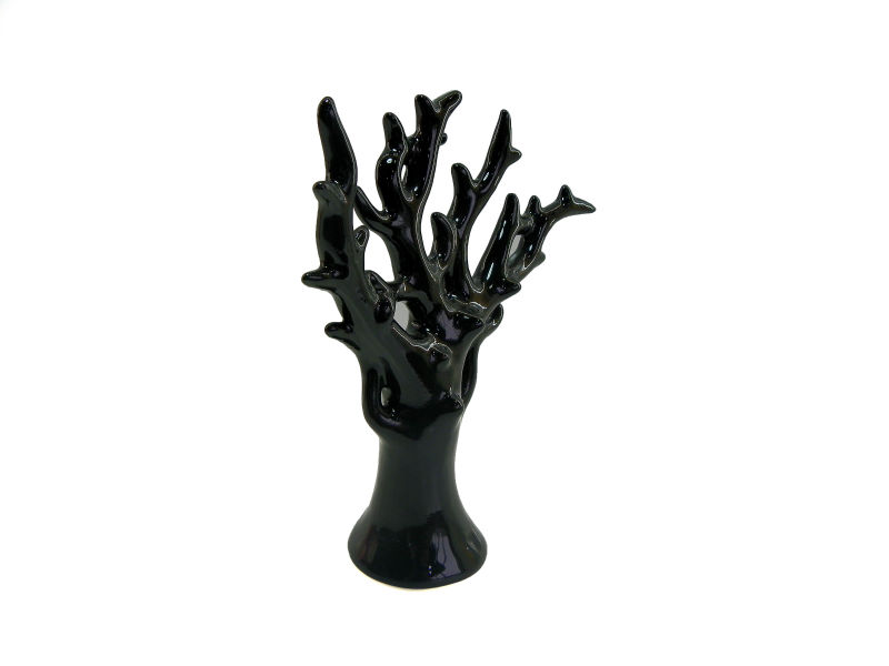 ceramic black coral decoration