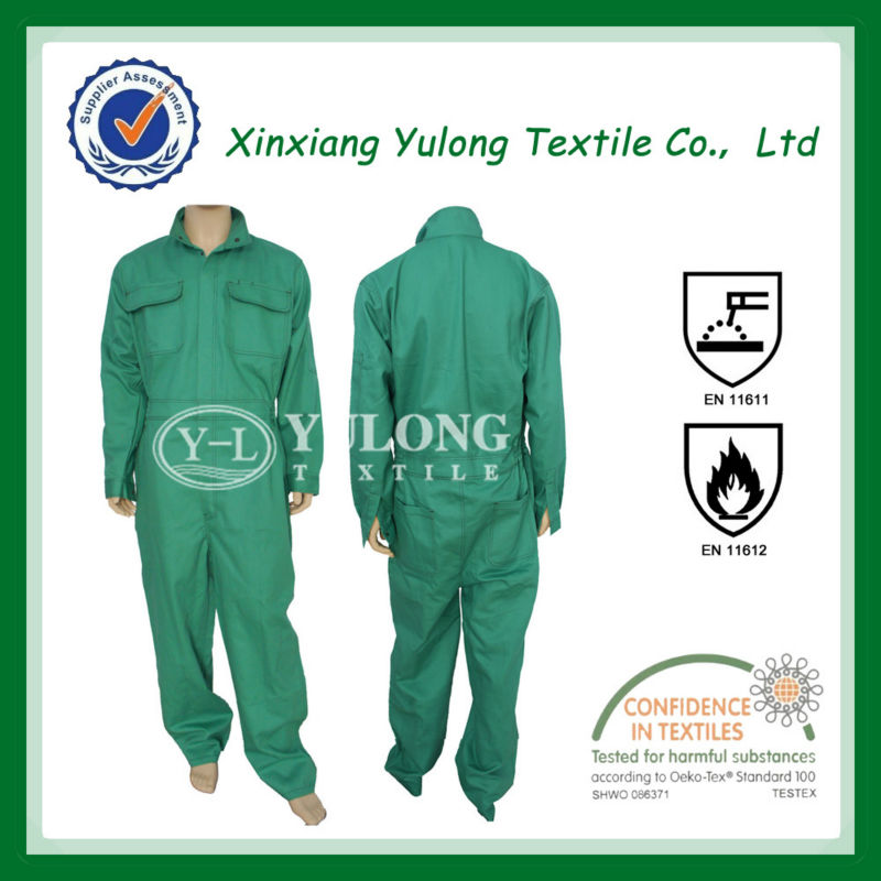 New style flame retardant coverall With EN11611,EN11612 A,B1,C1