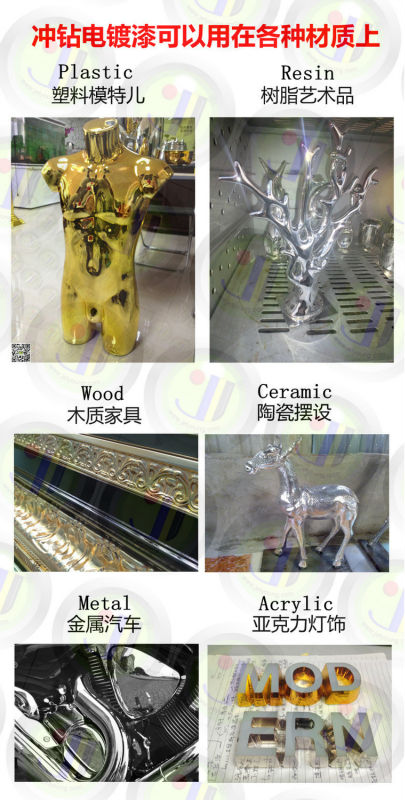 Chrome colorful painted speed shape spray chrome chemical for mirror effect gold silver chrome coat paint