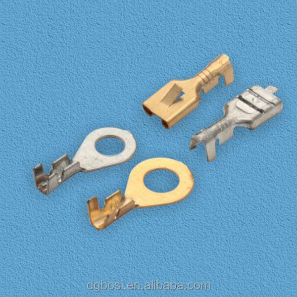 Automotive brass type of electrical terminal