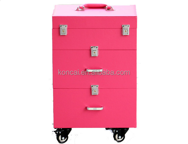 2017 wholesale beauty makeup storage drawers high quality pvc finished nail form 2 drawers 3 colors can be choose