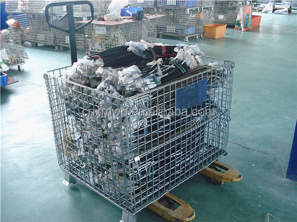Metal Bin Euro Bottle Wire Mesh Container