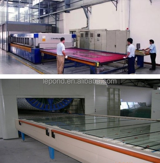 Colorful tempered laminated glass