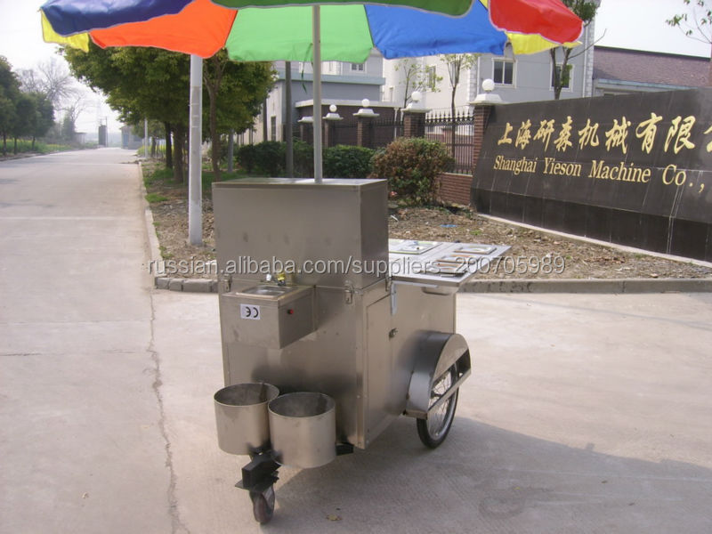 Accept Custom Design China Mobile Food Hot Dog Cart BBQ accessories,Condiment Trays/Electric food cart Non-Smoking Vending Cart
