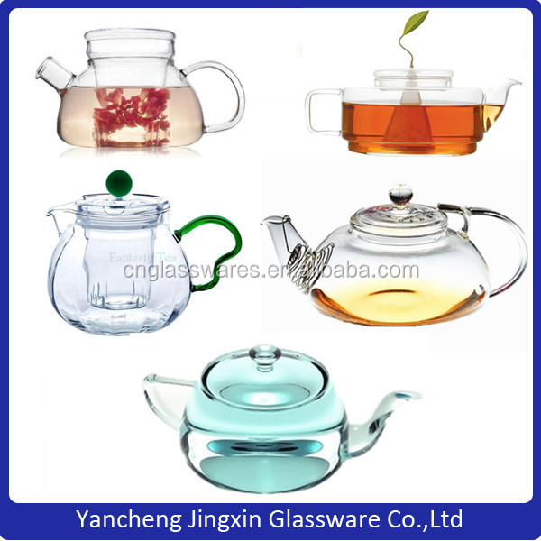 Handmade Glass Teapot Set With Warmer Chinese Glass Tea Set