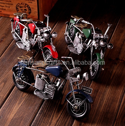 Craft gift antique motorcycle model for cafe bar decoration