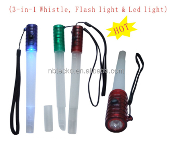3-in-1whistle and LED light
