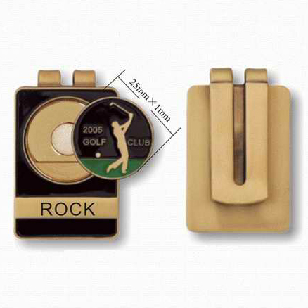 gold plated custom hard enamel golf belt money clips