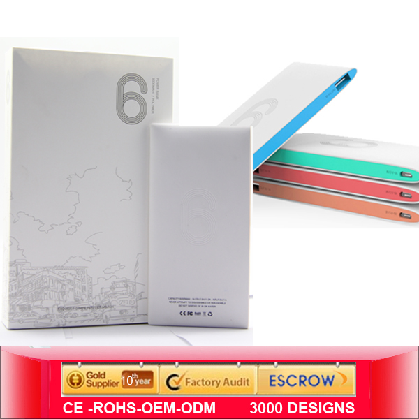 2015 new design power bank , Slim power bank wholesales, portable power bank