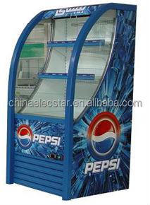 supermarket refrigeration equipment,open air type,for beverages chiller,customer branding