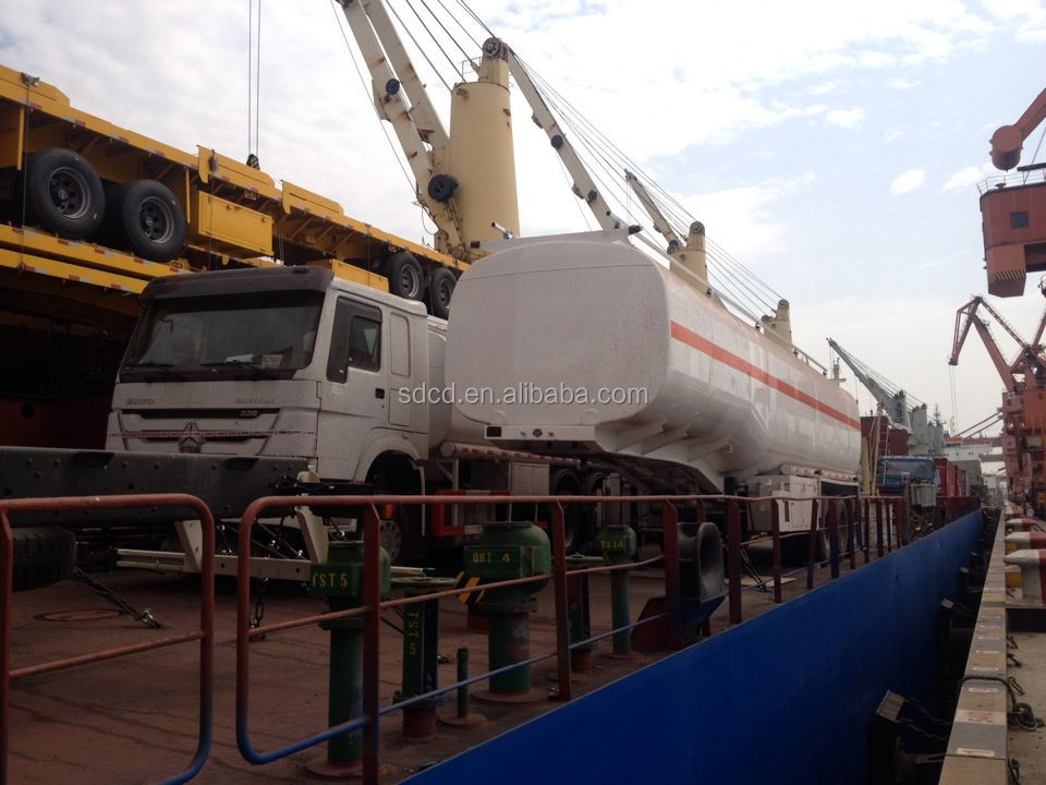 40000L semi tanker trailer fuel tank truck trailer petrol/gasoline tanker trailer for sale