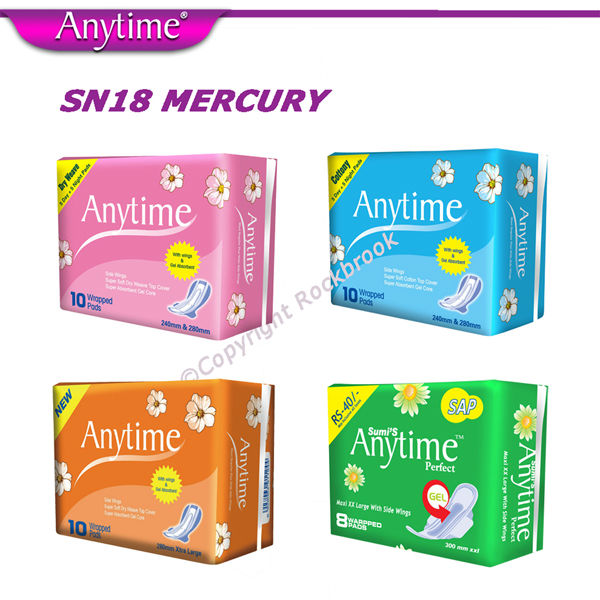 SN2442X Wholesale Ghana Import Lavender Magnetic Chip Dry Weave Sanitary Napkins Organic Cotton Menstrual Pads For Heavy Flow