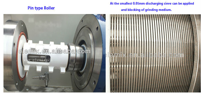 ELE new type high output ceramic grinding ball mill for ink, graphite