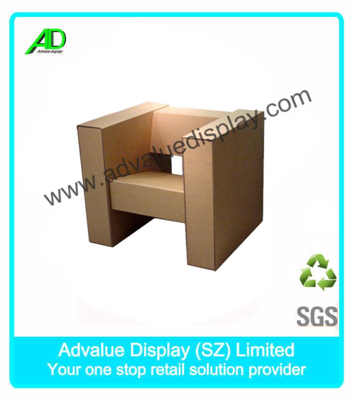 Bricolaje plegable de papel de mesa silla muebles de for Muebles de carton precios