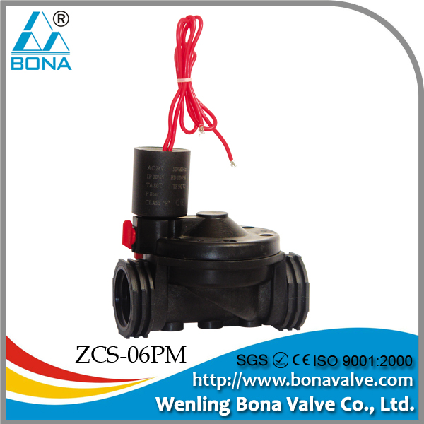 water solenoid valves for irrigation with flow control and manual