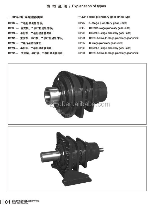 DOFINE DP series high power planetary gearbox