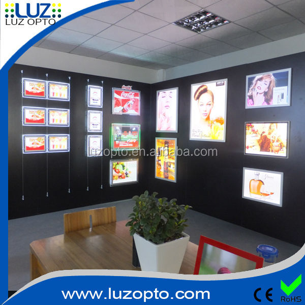 2014 hot large size wall mounted aluminium photo/picture/poster frame