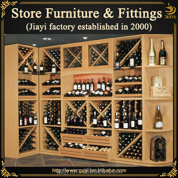 Fashion Wooden Wine Rack Display Stand And Liquor Cabinet For Wine Store  Decoration Furniture